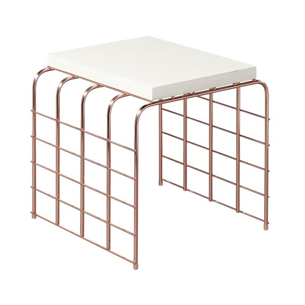 Perpetual Mesh Link Steel Side Table by Seasonal Living