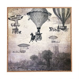 'Carrilloons Over the City' Framed Painting Print on Wood by Deny Designs