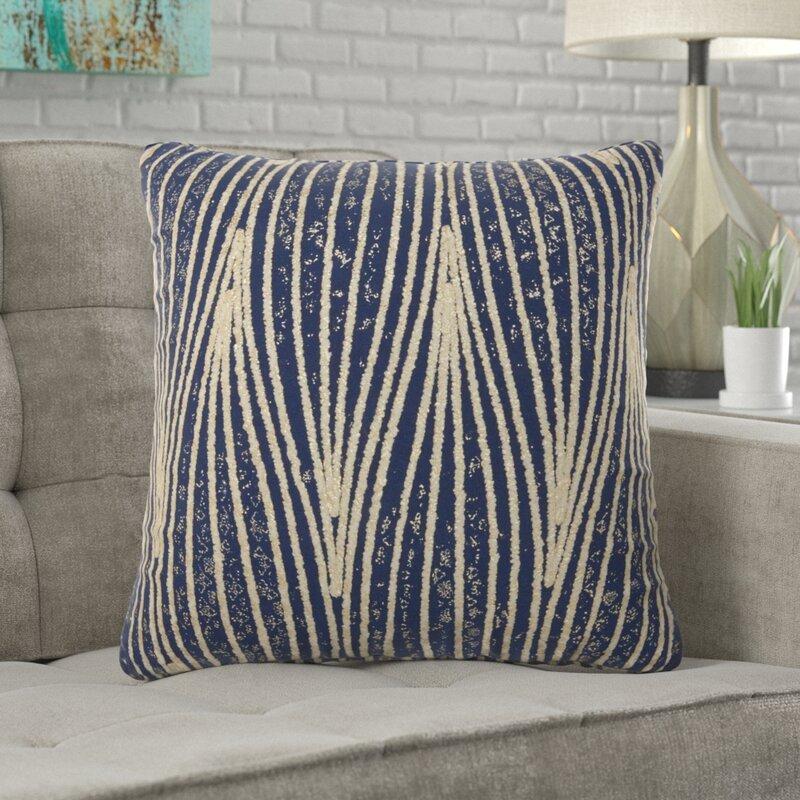 Knutsford Striped Cotton Throw Pillow