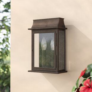 Bargain Logan 2-Light Outdoor Flush Mount By Three Posts