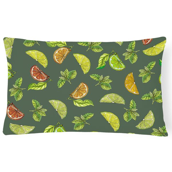 Clairevale Lemons, Limes and Lumbar Pillow by Latitude Run