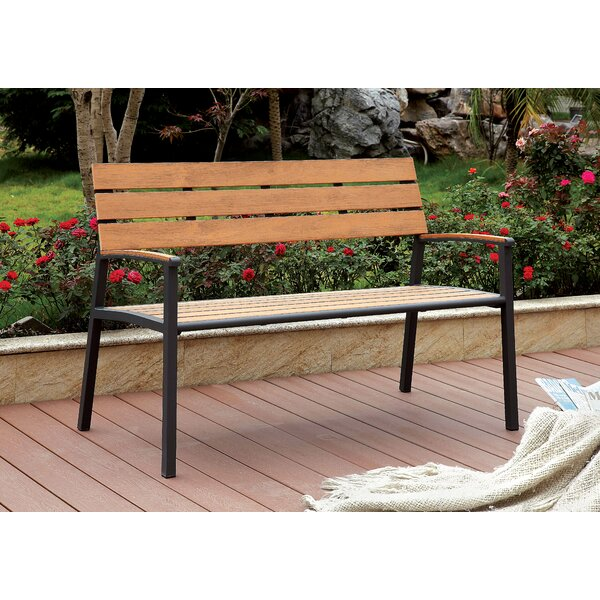 Ahart Transitional Metal Garden Bench by Latitude Run