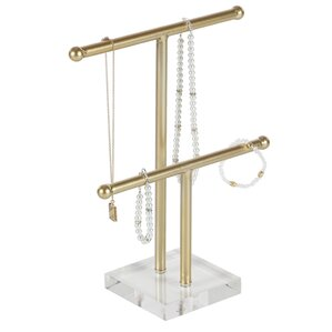 Lovely Metal Acrylic Jewelry Stand by Willa Arlo Interiors