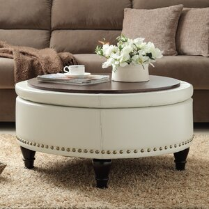 Ellen Bonded Leather Storage Ottoman by Darby Home Co
