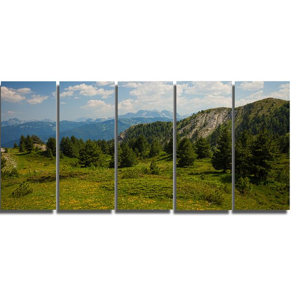 Amazing Visitor Mountains 5 Piece Wall Art on Wrapped Canvas Set by Design Art
