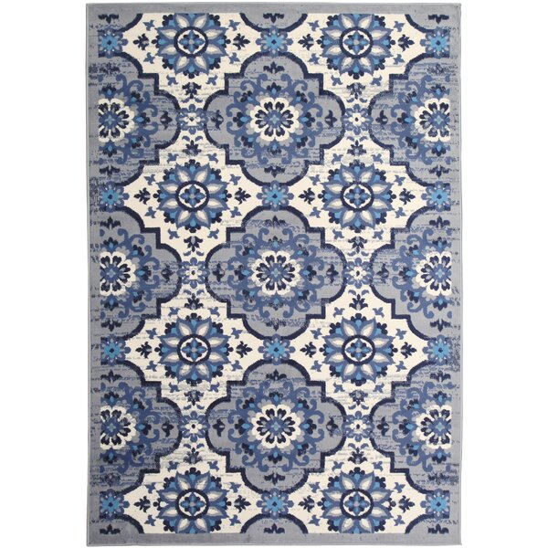 Bonner Blue/White Area Rug by Bungalow Rose
