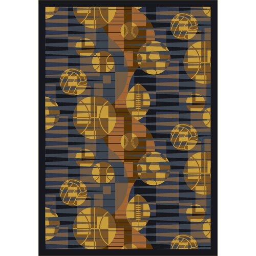 Keeping Score Blue/Yellow Area Rug by The Conestoga Trading Co.