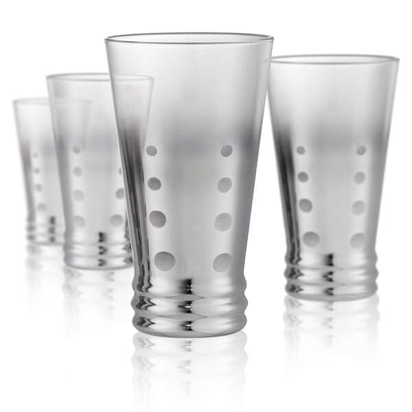 Forelli 13 oz. Glass Highball Glasses (Set of 4) by Latitude Run