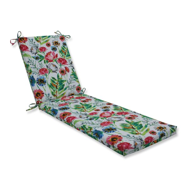 Flower Mania Petunia Indoor/Outdoor Chaise Lounge Cushion