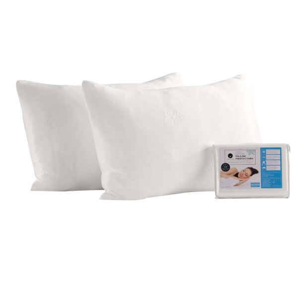 Cooling Pillow Protector (Set of 4) by Home Fashion Designs