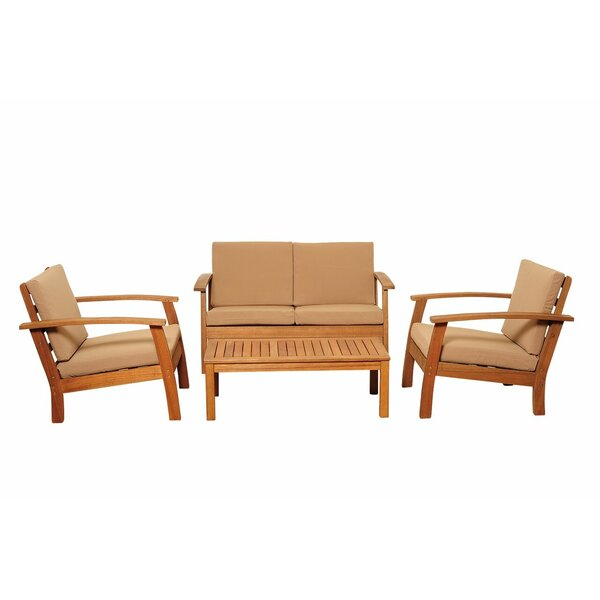 Fann 4 Piece Sofa Set with Cushions by Beachcrest Home