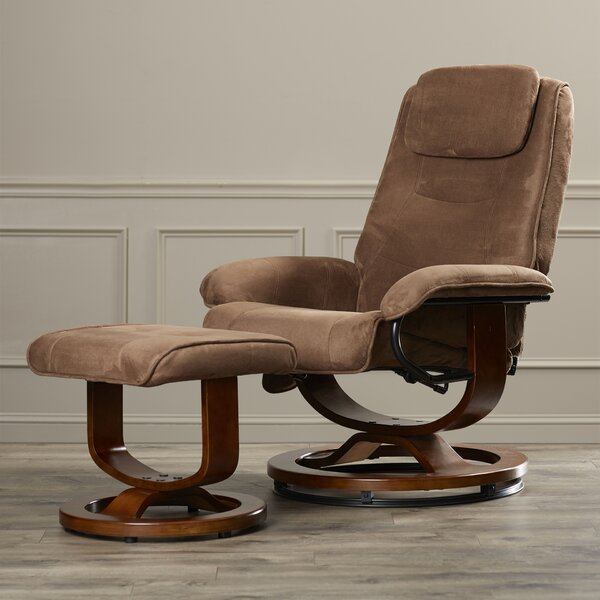 Reclining Heated Massage Chair with Ottoman [Charlton Home]