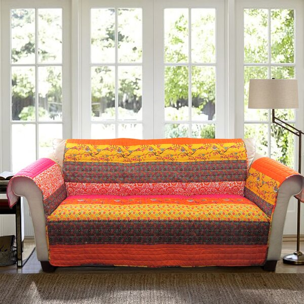 Somerton Box Cushion Loveseat Slipcover by World Menagerie