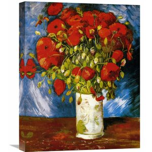 'Poppies 1886' by Vincent van Gogh Painting Print on Wrapped Canvas by Global Gallery