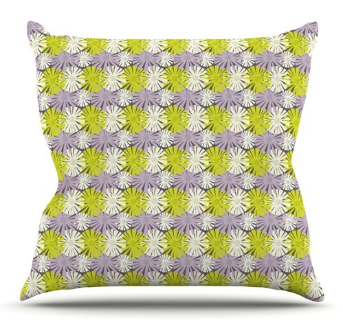 Zinnia by Julie Hamilton Outdoor Throw Pillow by East Urban Home