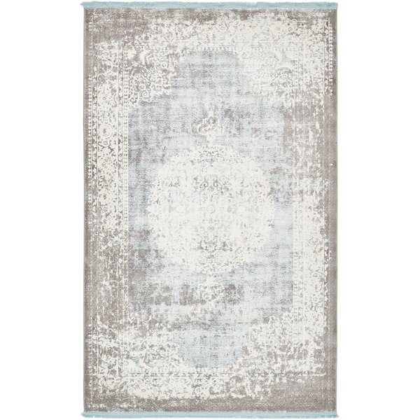 Twila Gray Area Rug by Bungalow Rose