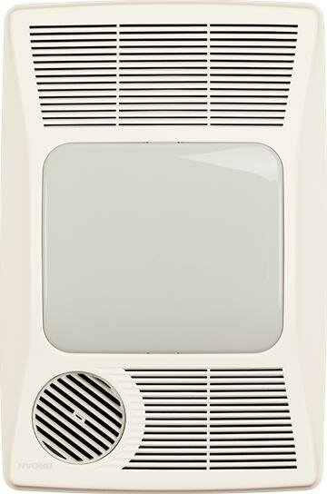100 CFM Bathroom Fan with Heater and Fluorescent Light by Broan