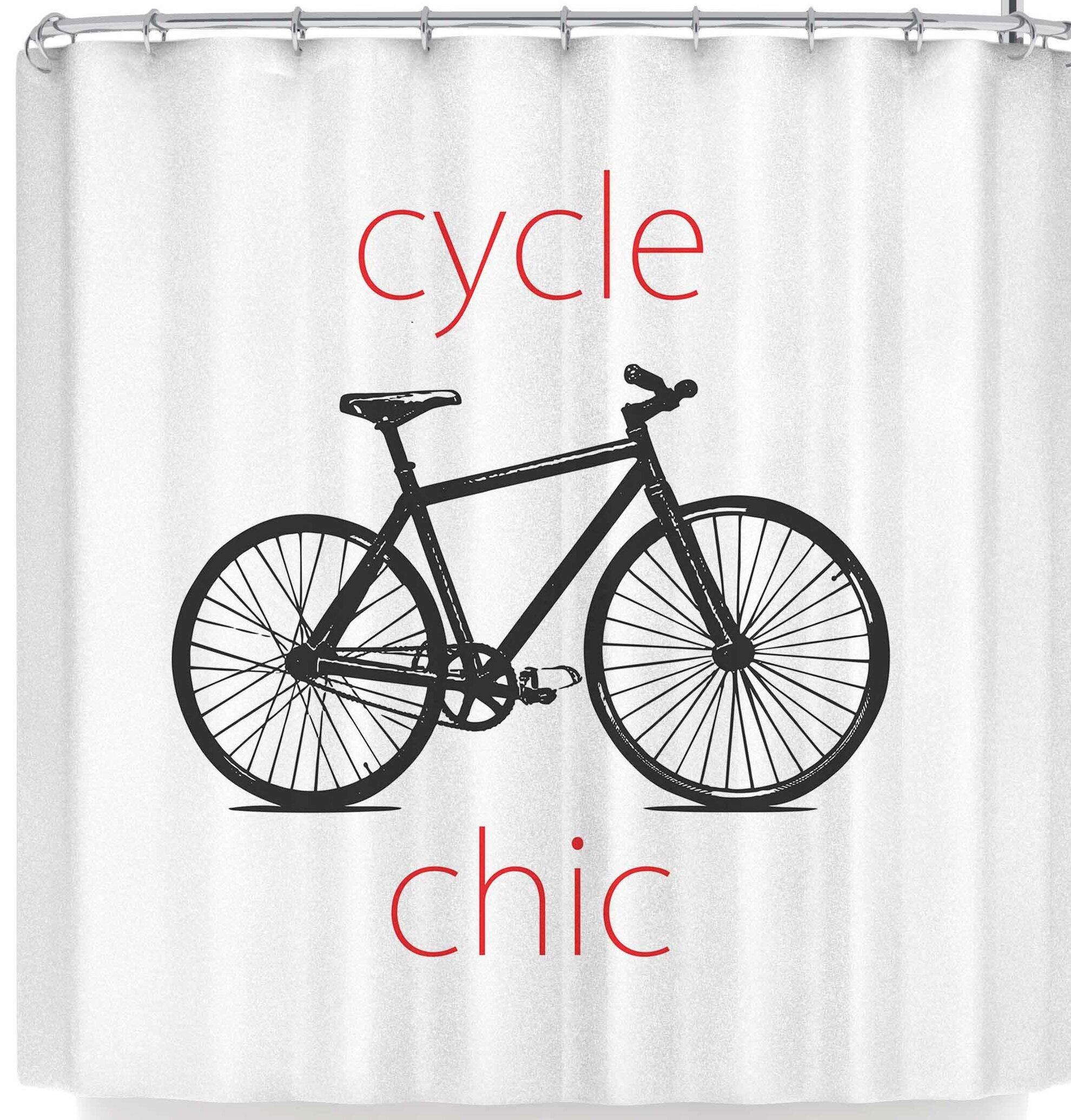 East Urban Home Louise Machado Ride A Bike Shower Curtain
