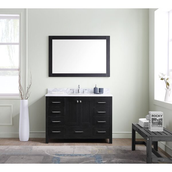 Hamden 47 Single Bathroom Vanity Set with Mirror by Greyleigh