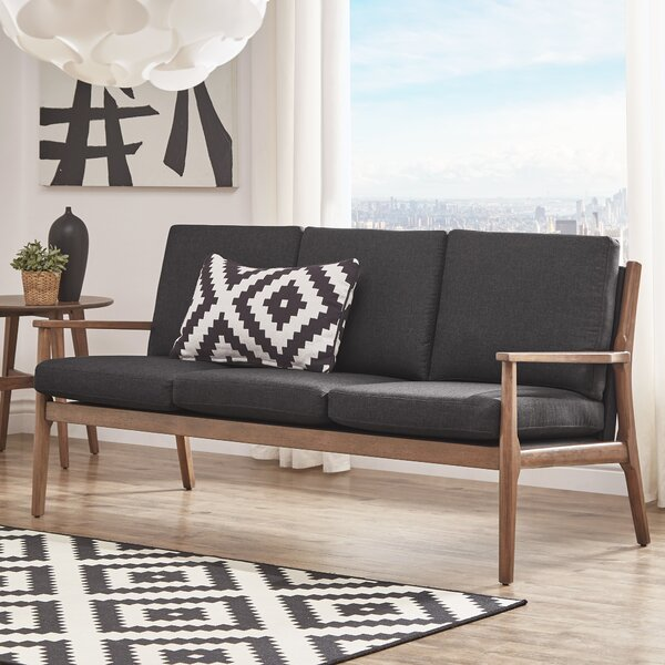 Perfect Brands Alaina Modern Straight Arm Sofa by Langley Street by Langley Street
