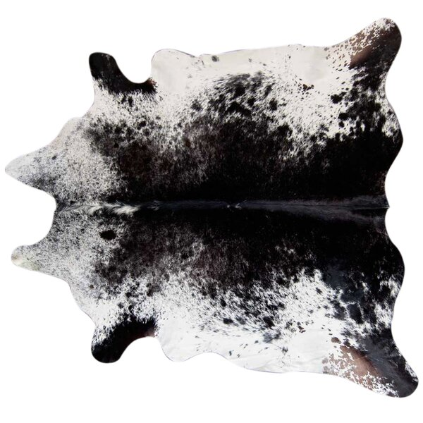 Speckled Hand Woven Cowhide Black/White Area Rug by Pergamino