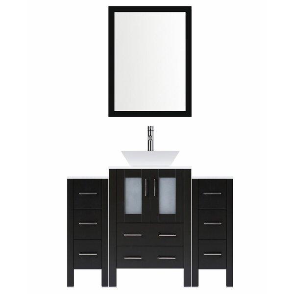 Modern 60 Single Bathroom Vanity Set with Mirror