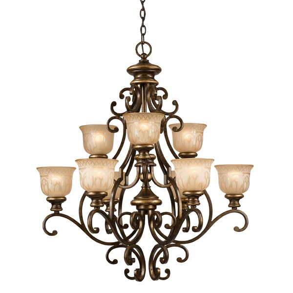 Tusten 9-Light Shaded Classic / Traditional Chandelier by Astoria Grand Astoria Grand