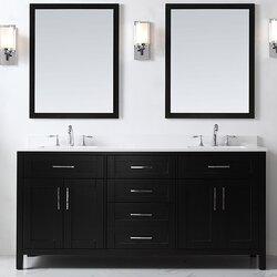Ove Decors Tahoe 72 Double Bathroom Vanity Set With Mirror In