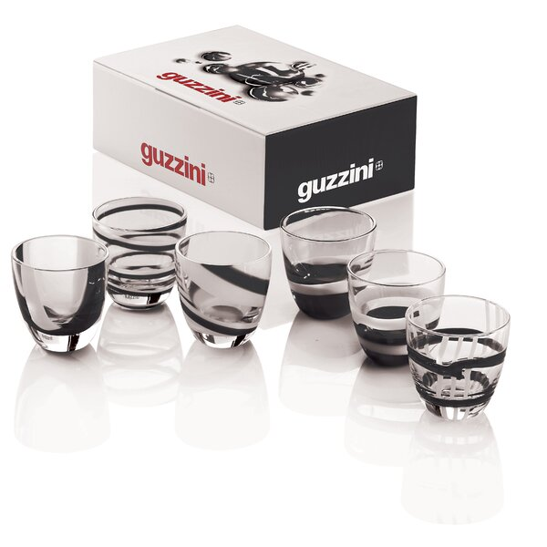 Assorted Designs 6 Piece 2.1 oz. Glass Every Day Glasses by Guzzini