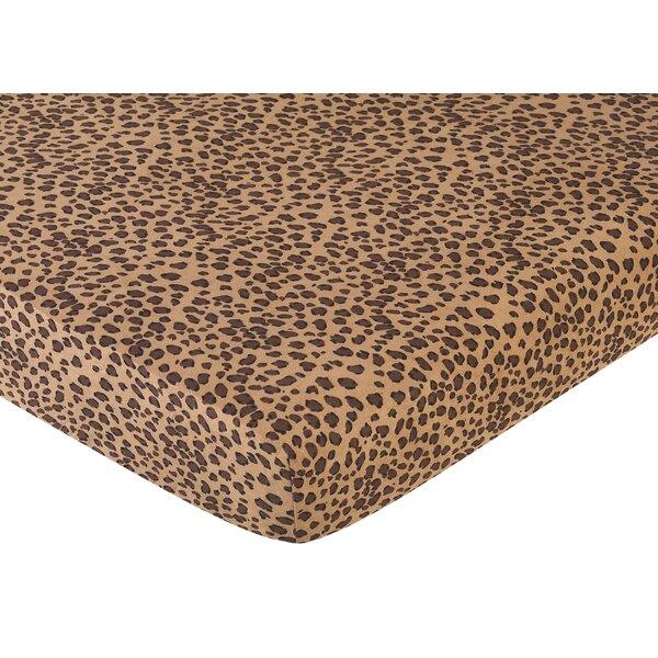 Cheetah Pink Fitted Crib Sheet by Sweet Jojo Designs