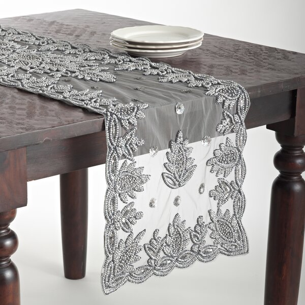 Morais Hand Beaded Table Runner by Bloomsbury Market