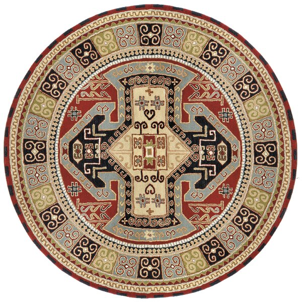 Traditions Sparta Navy/Red Rug by St. Croix