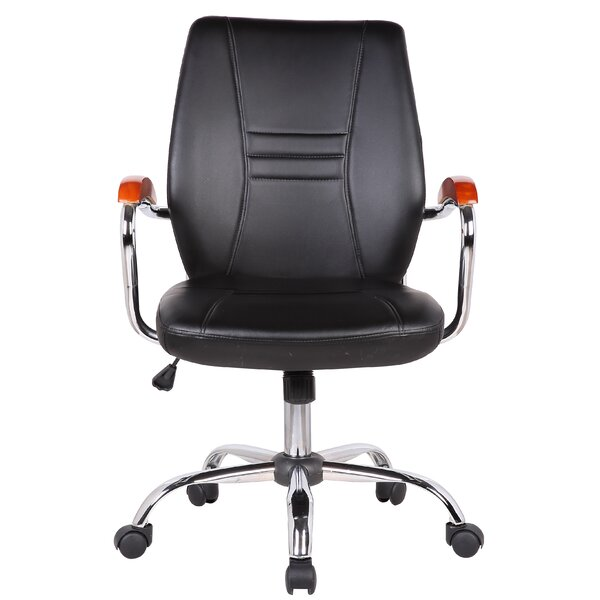Reyes Adjustable Mid-Back Executive Chair by Orren Ellis
