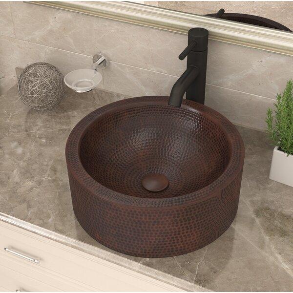 Stern Metal Circular Vessel Bathroom Sink by ANZZI
