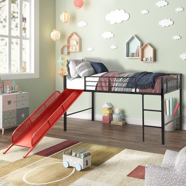 Mcdougall Metal Twin Loft Bed by Harriet Bee