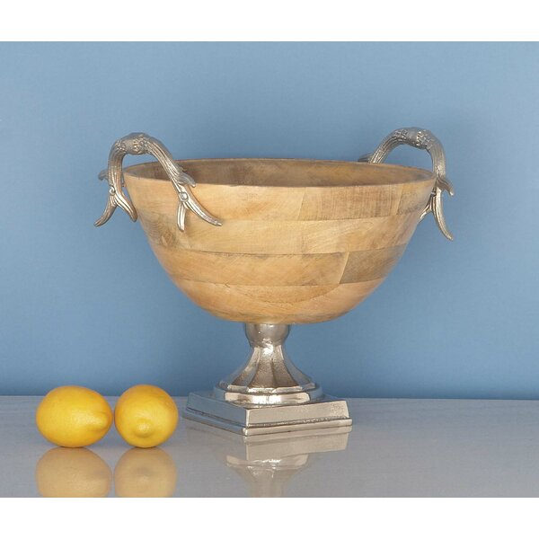 Wood Aluminum Decorative Bowl by Cole & Grey