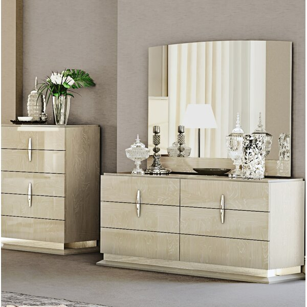 Kersh 6 Drawer Double Dresser with Mirror by Everly Quinn