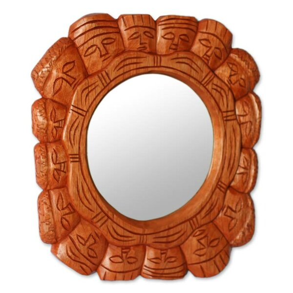 Democracy Cedar Wall Mirror by Novica