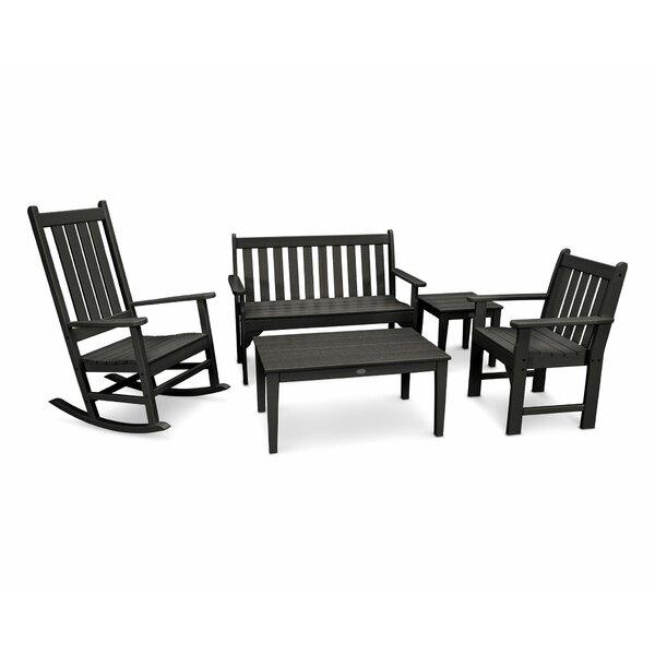 Vineyard 5 - Piece Bench Rocker & Glider  Chair Set by POLYWOOD®