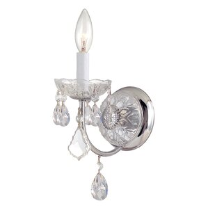 Stacey 1-Light Crystal Wall Sconce