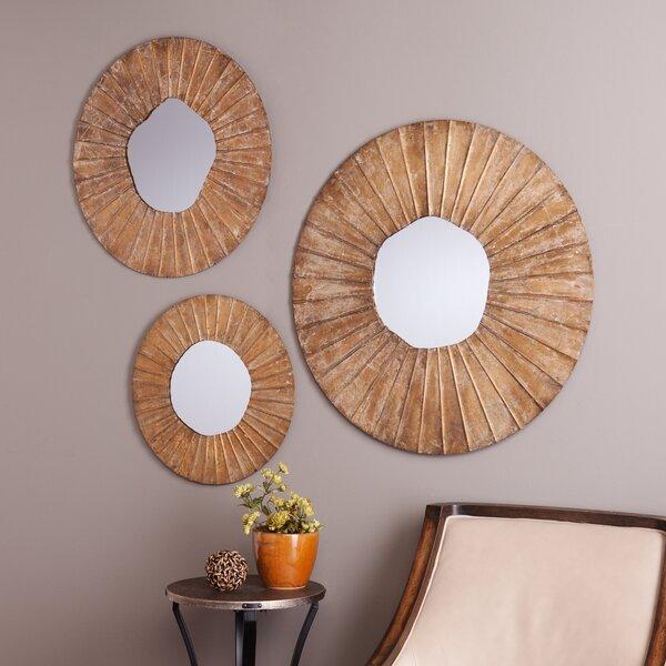 Wall Mirror Set langley street sylvia 3 piece wall mirror set & reviews | wayfair