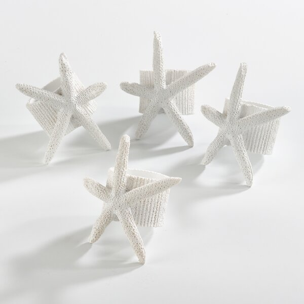 Starfish Napkin Ring (Set of 4) by Birch Lane™