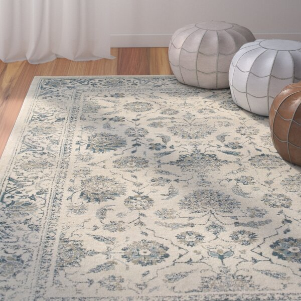 Lambeth Faded Garden Ivory Area Rug by Bungalow Rose