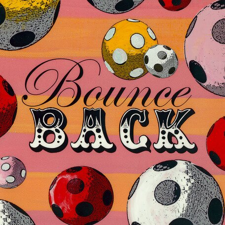 Bounce Back Canvas Art by Oopsy Daisy