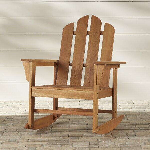 Agassiz Teak Rocking Chair by Loon Peak