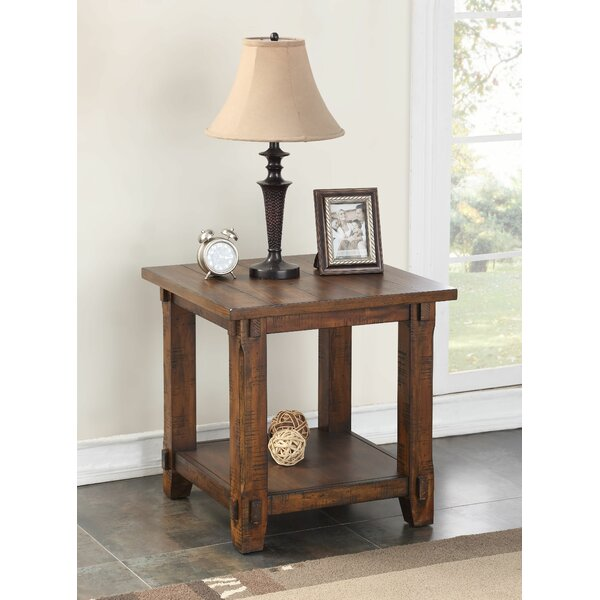 Rancho Santa Margarita Wood End Table by Loon Peak