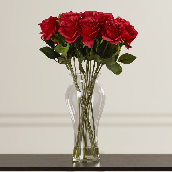 Shire Roses in Vase by Three Posts