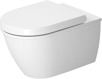 Darling New 1.28 GPF (Water Efficient) Elongated Wall Mounted Toilet with High Efficiency Flush (Seat Not Included) by Duravit