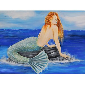 Nautical Mermaid by Ed Capeau Painting Print on Wrapped Canvas by Buy Art For Less