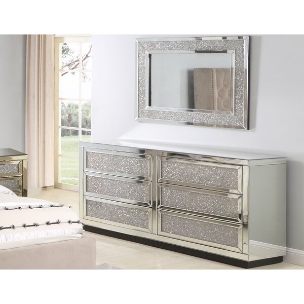 Tennessee 6 Drawer Dresser with Mirror by Rosdorf Park